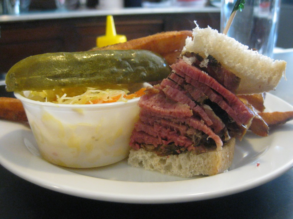 Smoked meat at Hali Deli