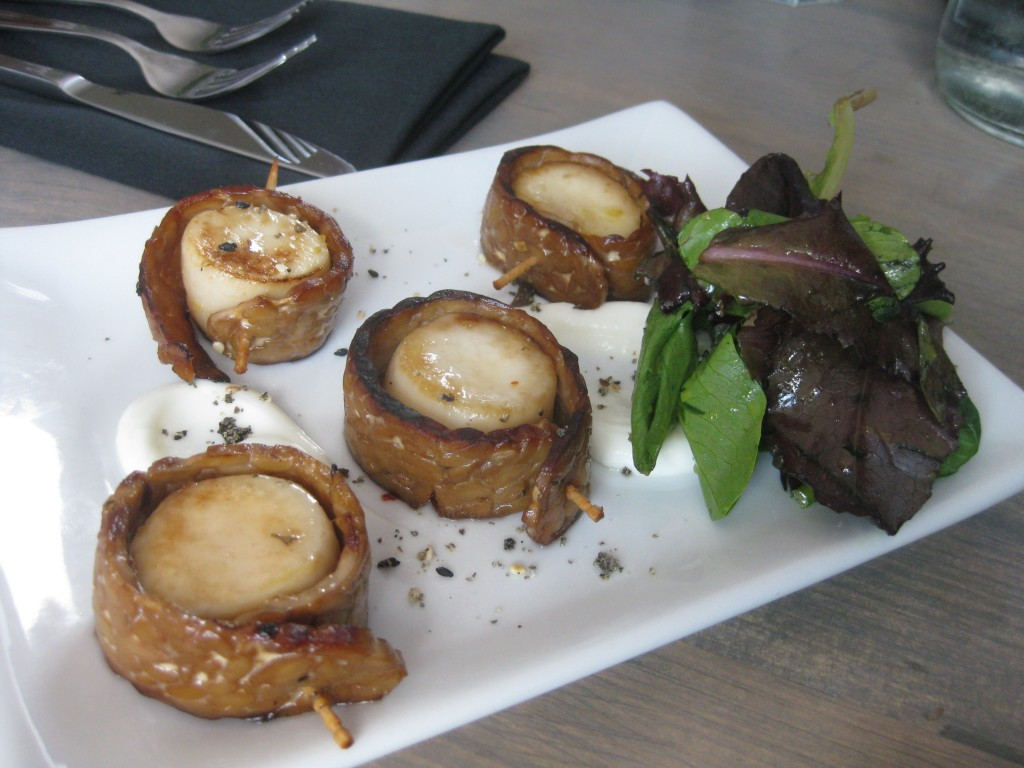 """Bacon Wrapped Scallops"" at EnVie"