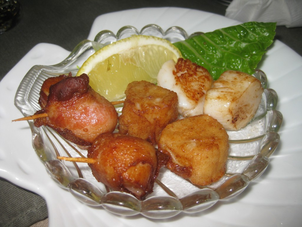 """Scallops Three Ways"" at Mariner's Landing"