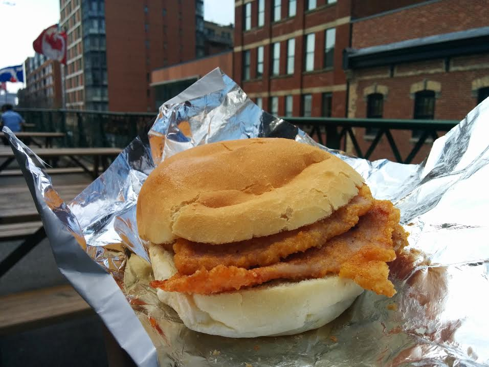 Peameal bacon sandwich at Carousel Bakery – $6.45
