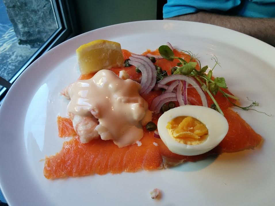 Dinner in Galway smoked salmon 2