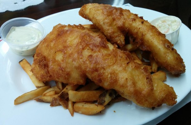 Fish 'n Chips at Barb's Family Diner