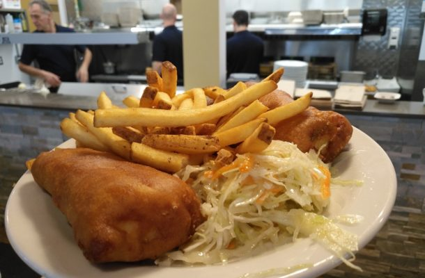 Fish n' Chips at Pleasant St. Diner