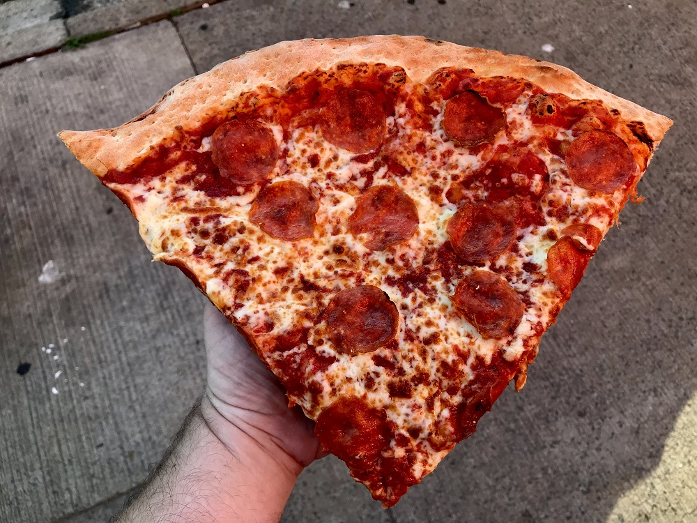 The largest of the pizza slices: Sicilian